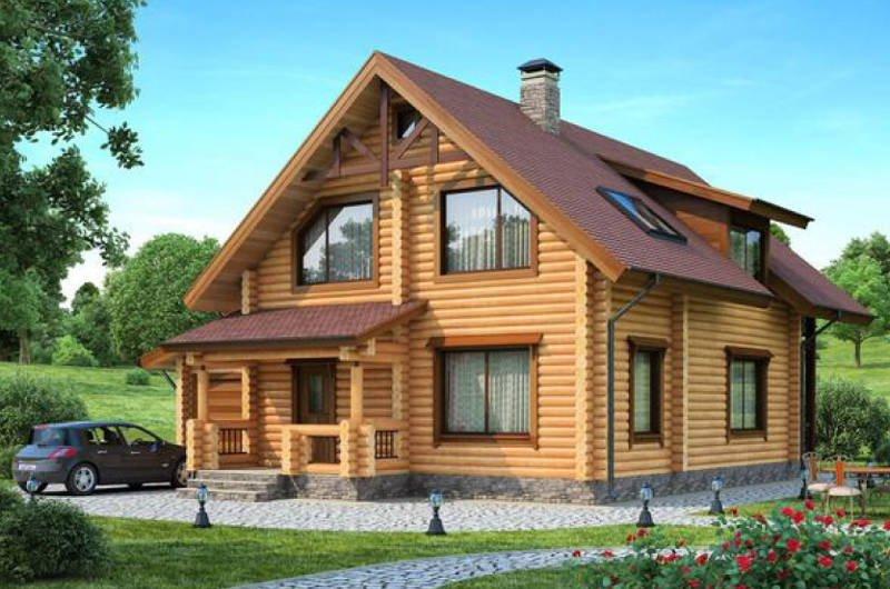 деревянный дом стройка киев