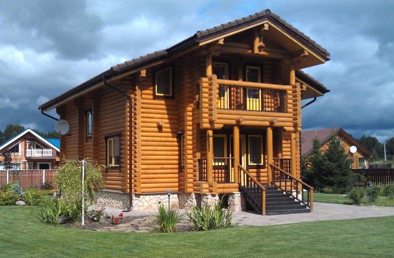 стройка дом из дерева киев